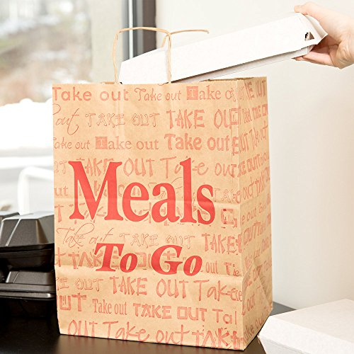 Restaurant Paper To Go Bags - 6
