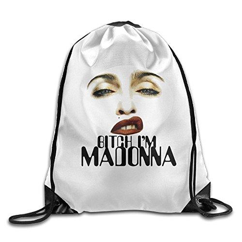 Chocy Bitch I'm Madonna Hiking White Cinch Pack White - Madonna Frozen Costume