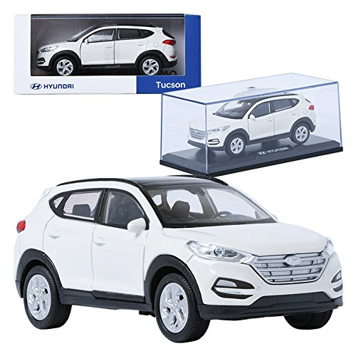 Pino B& D HYUNDAI Tucson TL White 1:38 Display Mini Car Miniature Car