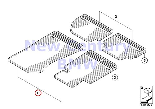 BMW Genuine Rubber Mat Front All-Weather Floor Mats Lhd Sw.