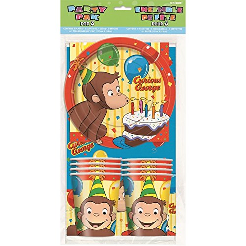 Curious George Tableware Party Kit for 8