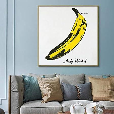 Inch : 20x20 Leinwand-Malerei Andy Warhol Gro/ße Banana Bild Klassische Poster und Drucke Wandbilder for Wohnzimmer-Dekor-Unframed Leinwanddrucke Size