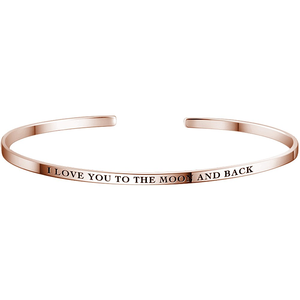 Soufeel Bracelet Jonc Femme Gravure Personnalisé Prénom de Famille Amis Phrases Numéro Or Argent 925 Cadeau Unique pour La Saint Valentin Anniversaire Mariage JKSZ03