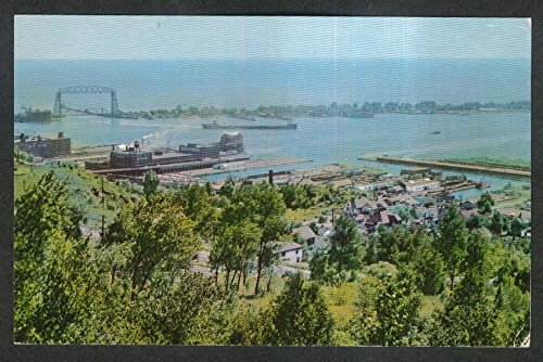 View of Duluth-Superior Harbor postcard 1950s