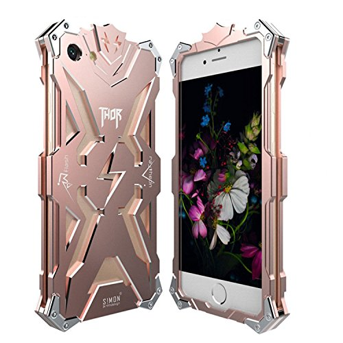 Metal Frame Bumper Case Cover Top Aluminum Material Case Cool Thor Anti-Scratch Shockproof Genuine Simon Thor Iron Aluminum Metal Case Cover for iPhone 7 Plus (Cover Thor)