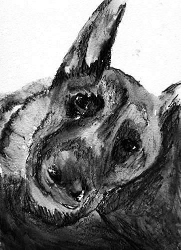 German Shepherd Dog Art Print, GD Gift, Black and White German Shepherd Artwork, Alsatian Dog Art, Dog Decor, Signed Art Print by Oscar Jetson