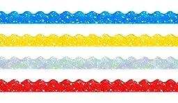 Trend Enterprises Sparkle Scalloped Terrific Trimmers. Variety Pack, 4 Colors, 130\' (T-92901)