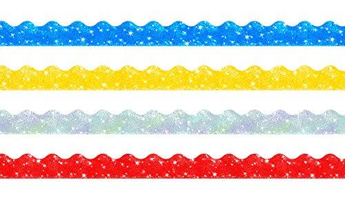 trend-enterprises-sparkle-scalloped-terrific-trimmers-variety-pack-4-colors-130-t-92901
