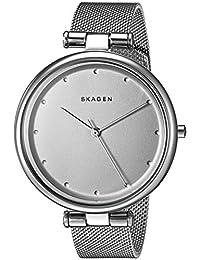 Skagen SKW2485 Reloj para Mujer Redondo, Análogo, color Plata
