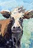 italian muzzle size 10 - Cow Art Cow Prints Face Animal Canvas Paper Folk Colorful Portrait Original Country Wall Art Home Decor Rustic Kitchen Decor Gifts for Him Gifts for Her Christmas Gifts - Agostino Veroni