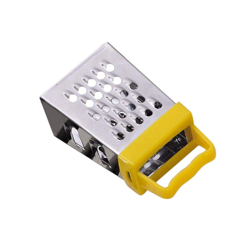 Kitchen Grater Professional Box Grater Pulison Stainless Steel with 4 Sides, Best for Parmesan Cheese, Vegetables, Ginger