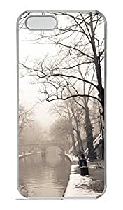 iPhone 5S Case, iPhone 5 Cover, iPhone 5S City Mist Winter Hard Clear Cases