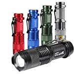 7W 300LM Mini CREE LED Flashlight Torch Adjustable Focus Zoom Light Lamp from HuaLand