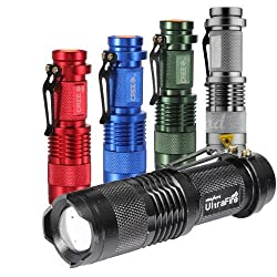 7W 300LM Mini CREE LED Flashlight Torch Adjustable Focus Zoom Light Lamp from Spring Digi Center