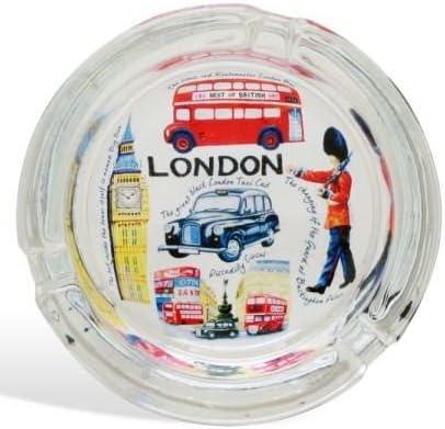 London Souvenir Glass Ashtray London Sites Design