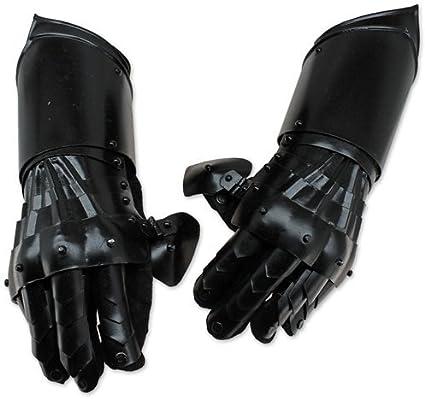 Gauntlet Gloves armadura con acentos de latón Medieval Caballero par Crusader Guante De Regalo