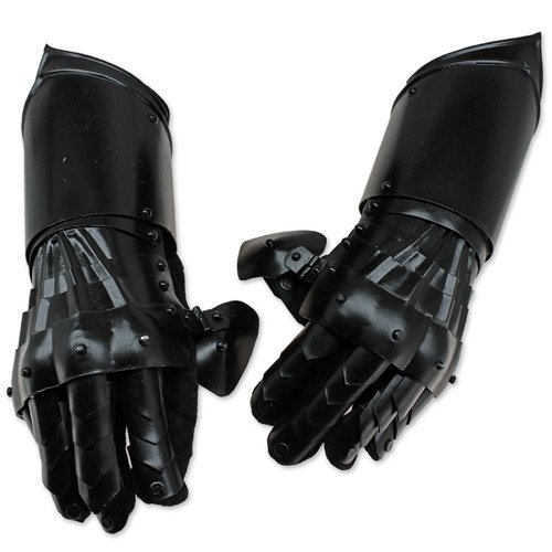 Armor Conquest Undead Gauntlets - Black - One Size Armour