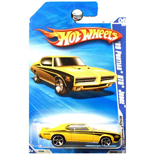 Hot Wheels 2010 Muscle Mania 1969 Pontiac GTO Judge in Yellow