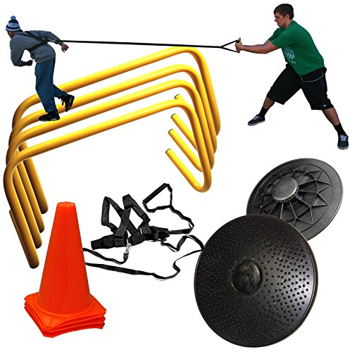 - Core Stability & Resistance Training Kit with Hurdles, Cones, Resistance Harness, and Balance