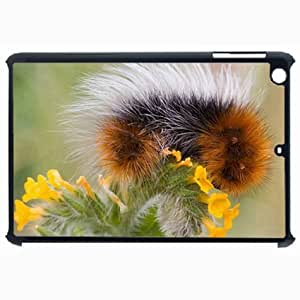 Customized Back Cover Case For iPad Air 5 Hardshell Case, Black Back Cover Design Worm Personalized Unique Case For iPad Air 5