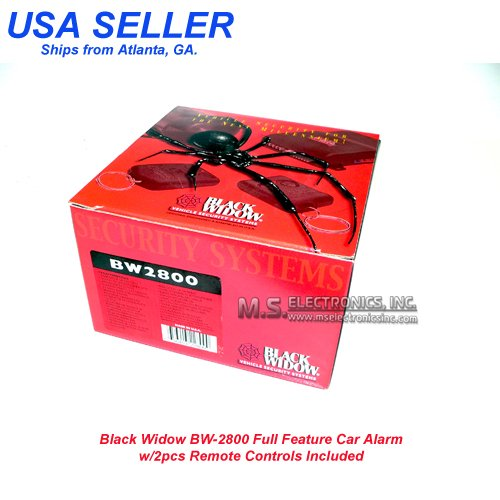 Black Widow Bw 2800 Full Feature Car Alarm Benefits