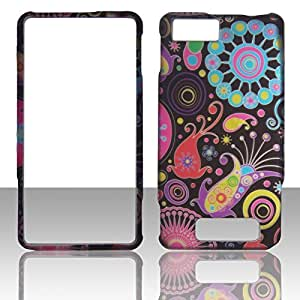 2D Rainbow Design Motorola Droid X MB810, X2 MB870, Dantona X2 MB870, Verizon Case Cover Hard Phone Case Snap-on Cover Rubberized Touch Faceplates