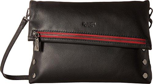 Hammitt Women's VIP Large Black/Gunmetal/Red Zipe One Size