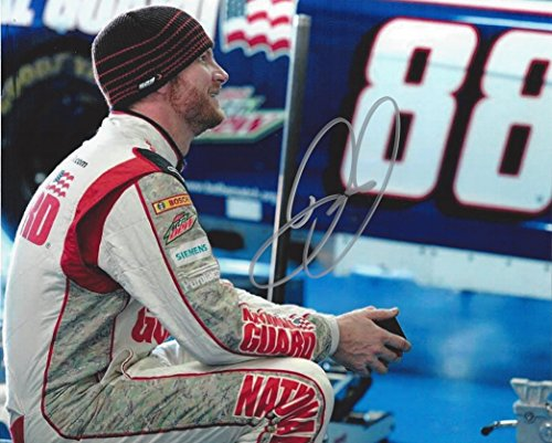 - AUTOGRAPHED Dale Earnhardt Jr. #88 National Guard Camo Racing (Garage Area) Hendrick Motorsports Sprint Cup Series Signed Collectible Picture NASCAR 8X10 Inch Glossy Photo with COA