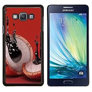 Resumen de tinta Significado Rojo- Metal de aluminio y de plástico duro Caja del teléfono - Negro - Samsung Galaxy A7 / SM-A700