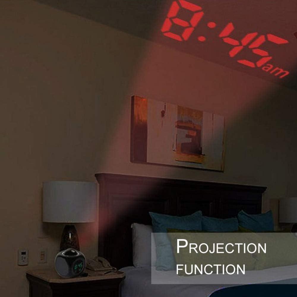 Voice Intercom Electronic Backlight LZBB 2019 New Lcd Projection Alarm Clock Alarm Digital Projector Desk Clock Temperature Display