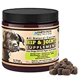 Earth Pets Nutrition, All Natural Hip and Joint Supplement Chewable for Dogs, Glucosamine Chondroitin, MSM for Bone and Joint Health, Support and Pain Relief for Dogs, Bite-Sized Treat, 130 Count