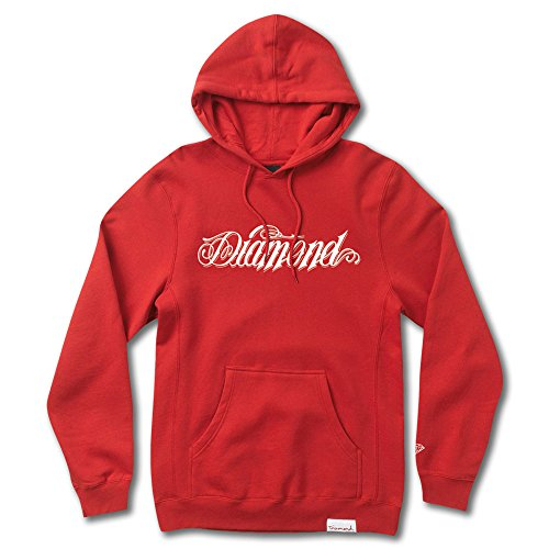 Diamond Supply Co Giant Script Hoodie Red by Diamond Supply Co