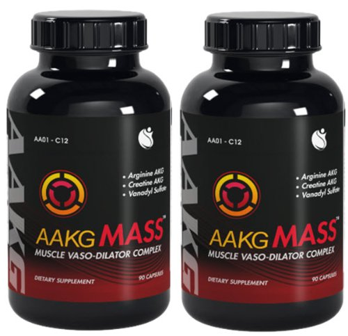 AAKG messe oxyde nitrique Vaso dilatateur Arginine AKG 180 Capsules 2 Bouteilles
