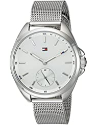Tommy Hilfiger Womens SPORT Quartz Stainless Steel Casual Watch, Color:Silver-Toned (Model: 1781758)
