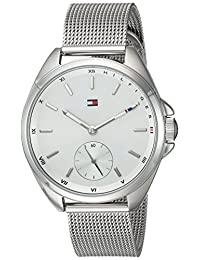 Tommy Hilfiger Women's 'Sport' Quartz Stainless Steel Casual Watch, Color:Silver-Toned (Model: 1781758)