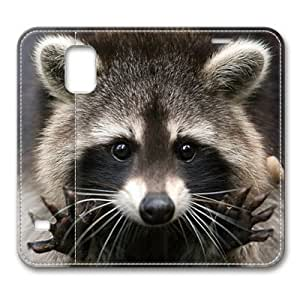 Baby Raccoon 001 Flip Leather Cover for Samsung Galaxy S5 i9600 by ruishername