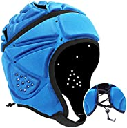 VAYEAH Soft Shell Football Helmet Scrum Cap 7v7 Rugby Helmet Foam Cotton Protective Soft Padded Headgear Autis