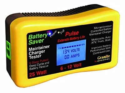 Battery Saver 3015-LCD 25W Pulse Battery Maintainer/Charger/Tester with Battery Rescue