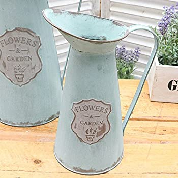 Amazon Vancore Shabby Chic Small Metal Jug Flower Pitcher Vase