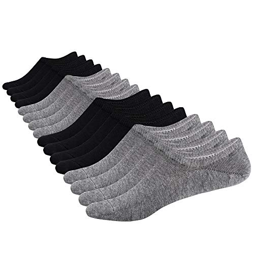 (SIXDAYSOX Women's Low Cut Socks Casual Loafer Thin Socks Non Slip Grips 8 Pair Mix Color)