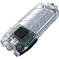 Nitecore T Series Tube Transparent USB Charging Keyring. Integrated Li-ion Battery. Tiny USB Rechargeable Light, 1 - 45 Lumens, Water Resistant, Maximum Runtime Up To 48 Hours
