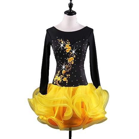 DSDBWQ Falda de Baile Moderno Vestido de Baile Latino para Adultos ...