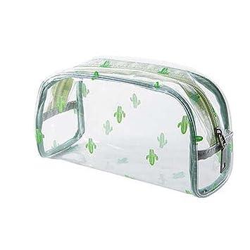 cb6989a3d1b7 Amazon.com : Clear Cosmetic Bag Vinyl Air Travel Toiletry Bags ...