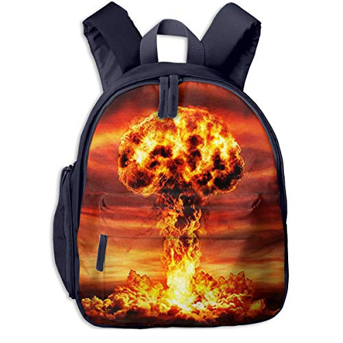 Kids School Backpack for Boys Girls, Perfect Fit Elementary School Teenage Junior Middle School Bookbag Student Stylish Travel Laptop Book Bag Nuclear Mushroom Cloud Fall Out (Nuclear Laptop Bag)