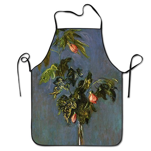 HELEN.KOCO Unisex Flowers In A Vase Restaurant Home Bib Apron For Cooking, Grill And Baking - Adjustable Neck Strap
