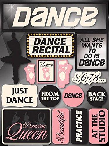 Reminisce Signature Series 3-Dimensional Sticker, Dance (Dance Scrapbook Stickers)