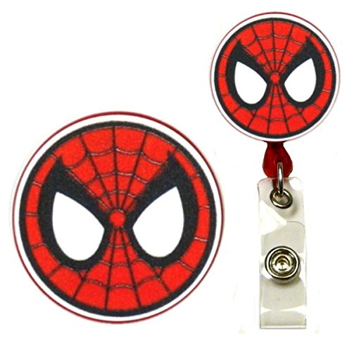 New Avengers Infinity Wars Spiderman Inspired Symbol Decorative ID Badge Holder (Swivel Alligator)