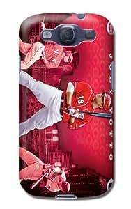 Fashion Popular Mlb Cincinnati Reds Team Logo Durable Rubber Samsung Galaxy S3 Case