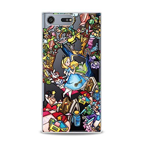 (Lex Altern TPU Case Sony Xperia L3 XZ3 XZ2 Premium XA3 Ultra XA2 Plus Alice in Wonderland Clear Disney Cute Colorful Cover Soft Character Silicone 2018 Print Protective Cartoon Design)