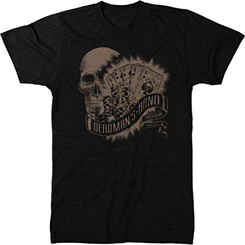 Dead Man's Hand Poker Room Men's Modern Fit Tri-Blend T-Shirt (Vintage Black, XX-Large)